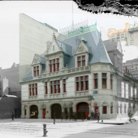 Photomontage of the 1897 Engine Company 31 Firehouse and the current DCTV, which hosted the VAEFF Gala and the Olympia brothel