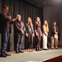 Festival Director Dan Fine, with 2017 team members Neco Turkienicz, Carolina Mandia, Claire Felonis, Festival Coordinator Sarah Telesca, and moderator Mark Alpert.