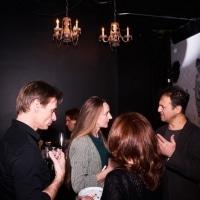 Filmmaker Sarah Kershaw and Festival Director Dan Fine chat at the gala.