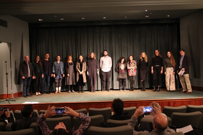 The VAEFF team with filmmakers (L-R) Rotem Weiner, Jèss Monterde (representing Alan Masferrer), Miao Hao, Maria Burns, William Bentley, Soda_Jerk, and Ana Valdés.