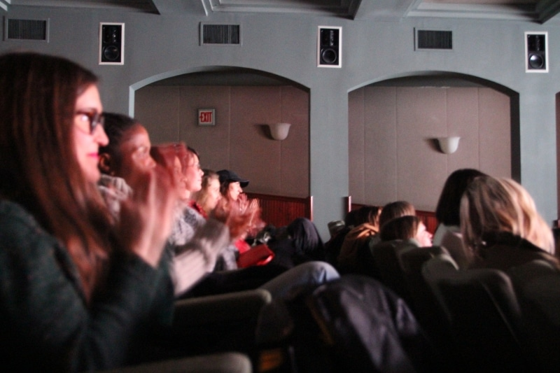 Audience members during the screening at Tribeca Film Center.