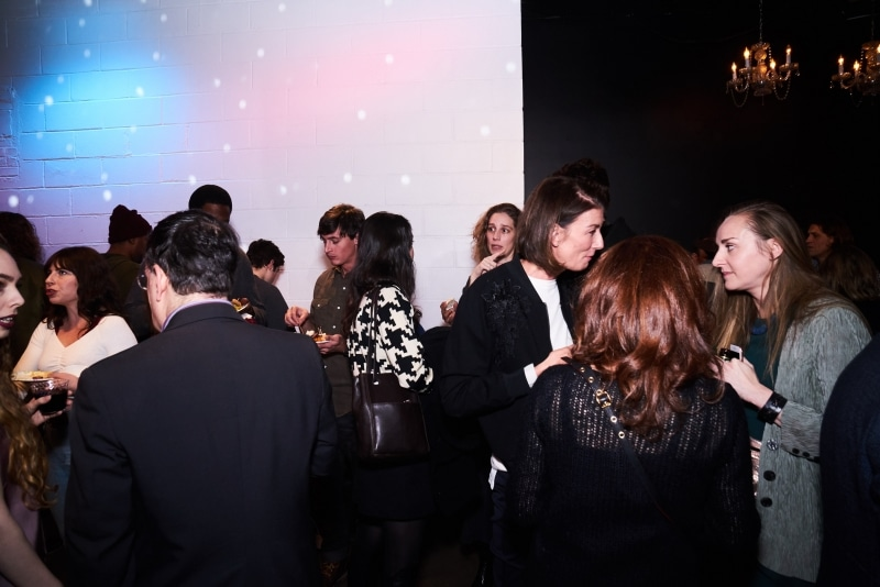 Filmmakers and artists mingling with the audience at the gala.
