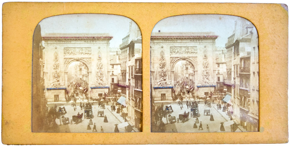 1870 STEREOVIEW Paris Roman Gate - The Olympia Project Collection