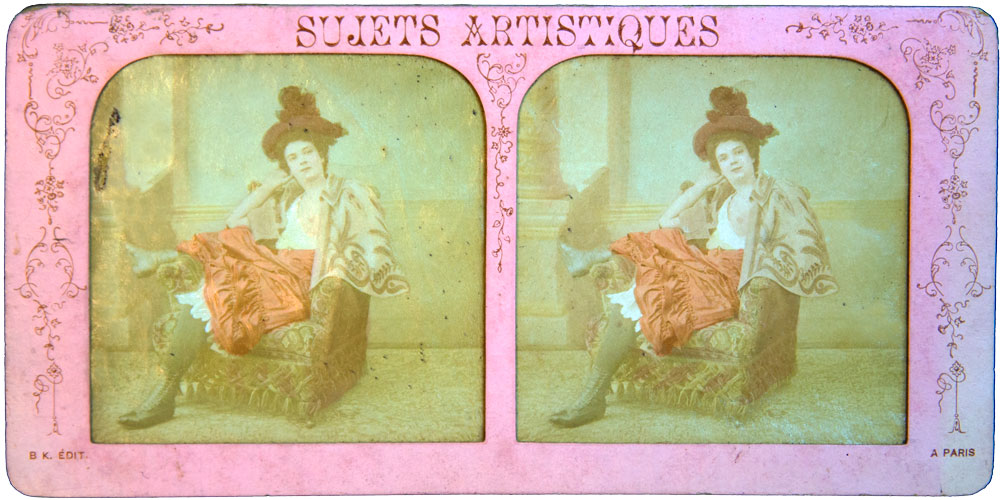 "Scarlet Woman B.K. Paris 1870 Hand Painted ""French Tissue"" - Olympia Project Collection"