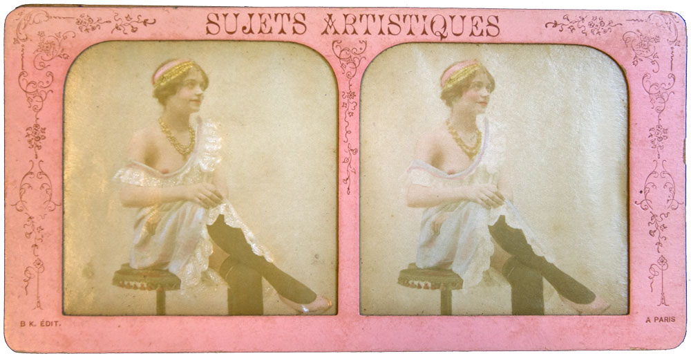 """Scarlet Woman B.K. Paris 1870 Hand Painted """"French Tissue"""" - Olympia Project Collection"""